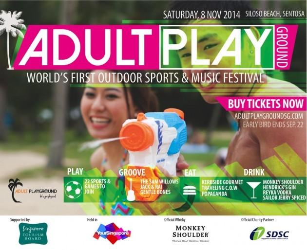 Adult Playground Singapore 2014, Siloso Beach Sentosa