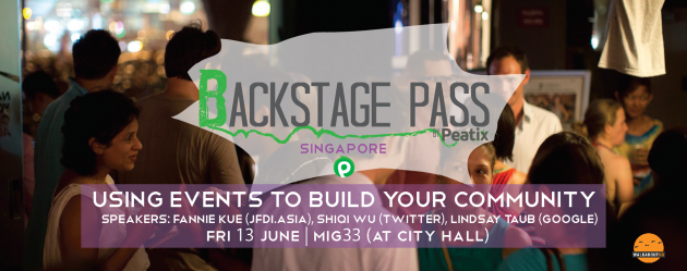 Backstage Pass by Peatix, a community event for organisers