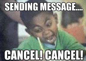 Cancel event RSVP meme