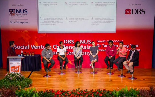 DBS-NUS Social Venture Challenge Asia 2014 Q&A Panel with project pitch