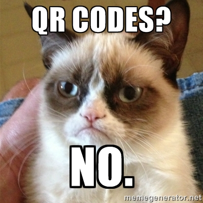 Grumpy cat no has qr codes