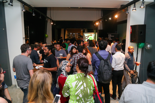 crowd stayed to mingle at Malaysia Peatix launch party