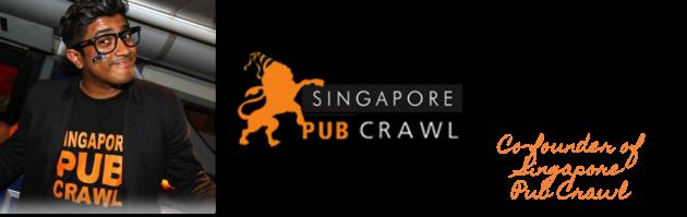 Mogan Vithilingam, co-founder of Pub Crawl Singapore