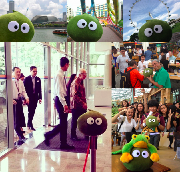 Pea-chan's adventures in Singapore