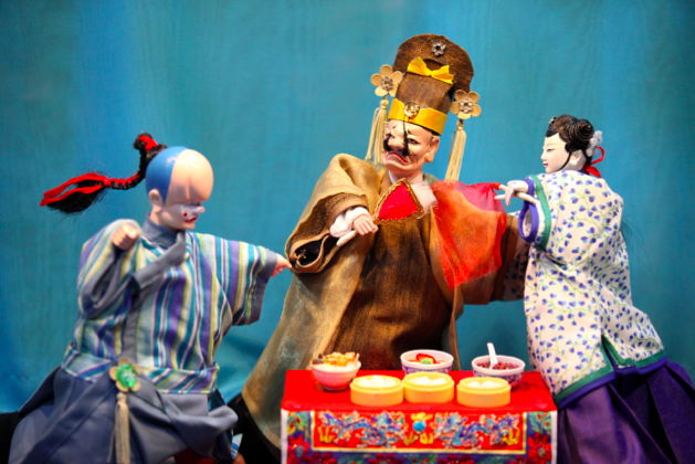 Paper Monkey Theatre puppets