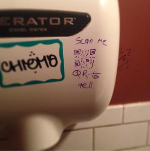 hand dryer QR code parody