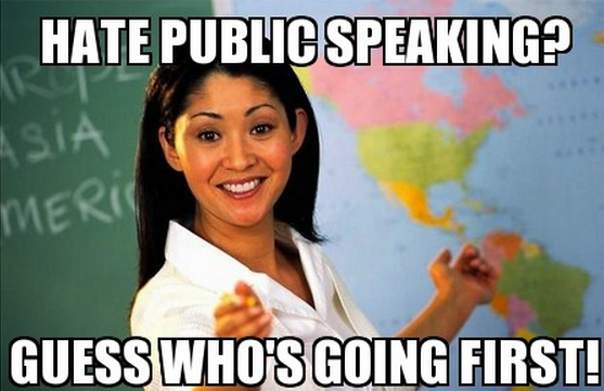Public speaking meme