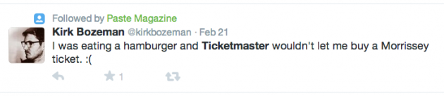 Ticketmaster hamburger conspiracy