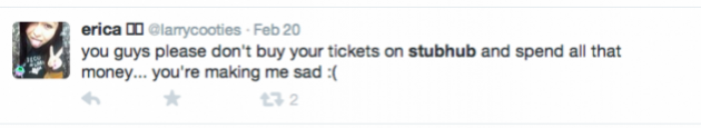 Ticketmaster sadness