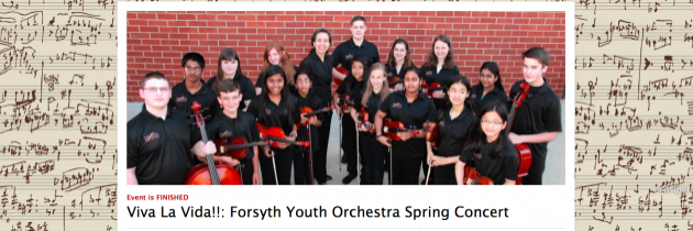 Youth orchestra online ticketing