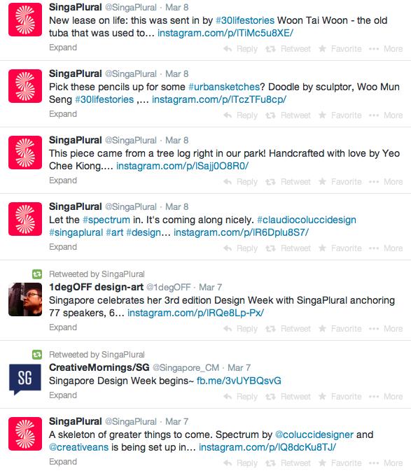 SingaPlural on Twitter