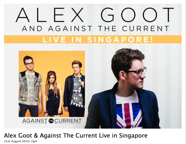 Alex Goot & Against the Current Live in Singapore