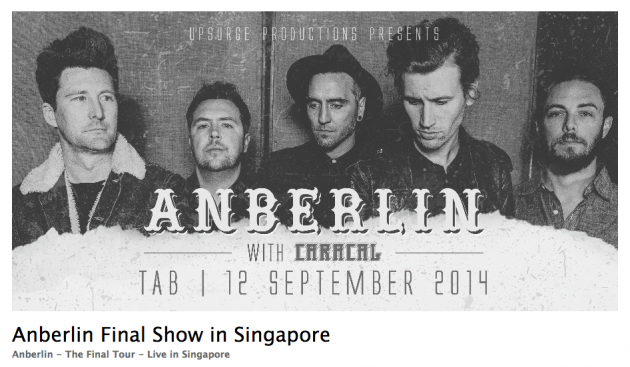 Anberlin's Final Show in Singapore