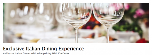 Exclusive Italian Dining Experience