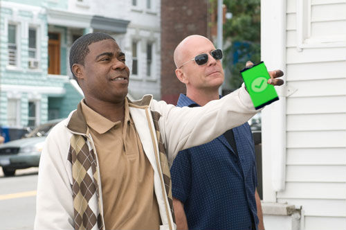 Bruce Willis and Tracy Morgan use ColorSync