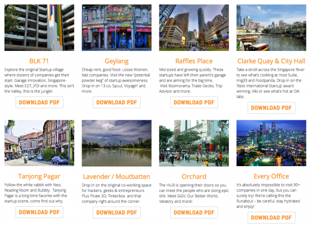 WalkaboutSG 2014 itineraries