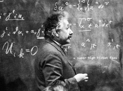 Einstein predicts ticket fees