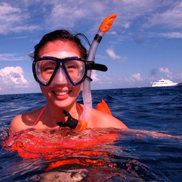 Helena Wong snorkeling!