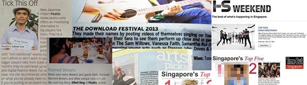 Singapore media on Peatix