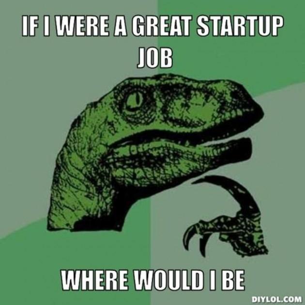 Startup job fair meme