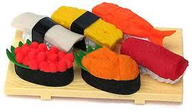 sushi eraser gift