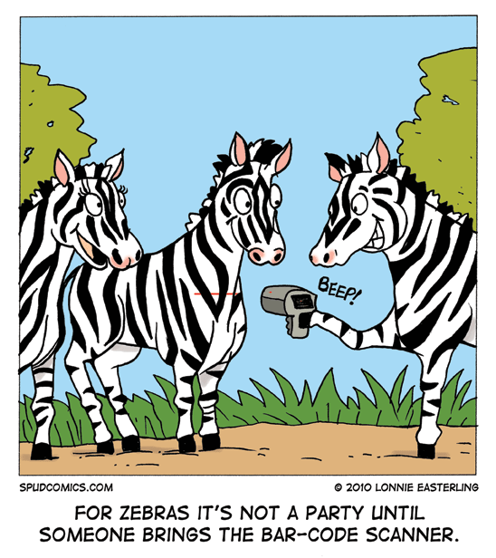Zebra barcode cartoon